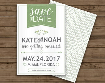 Diy save the date etsy diy save the date card editable text in microsoft word 3 different colors junglespirit Gallery