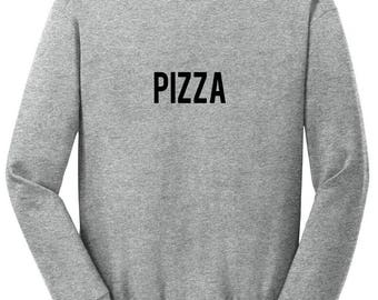 Pizza Sweatshirt / Funny Sweater / Foodie Pullover / Gifts for Foodies / Italian Top / Pizza Planet / Gym Sweatshirt / Food Lovers Gift