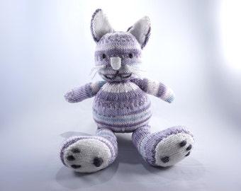 Katie Kat - handmade knitted wool toy
