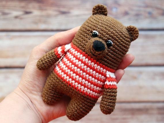 Crochet pattern for little bear PDF ternura amigurumi english | 428x570