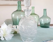 Chiseled glass carafe
