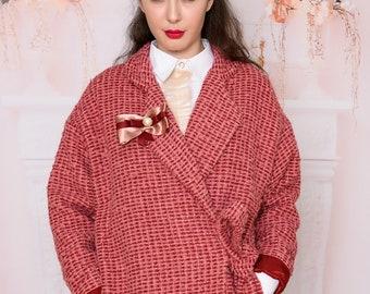 f1e5a7361cfea Pink coat/ Wool coat/ Cashmere coat/ Oversize Coats/ Elegant   Etsy