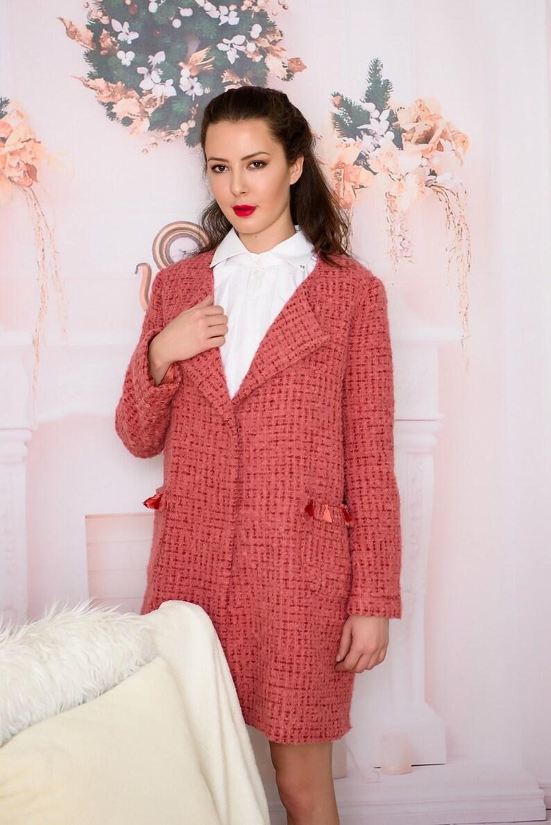 dd1a1aeb5f623 Wool Coats / Women Coat / Vest whit fringe / Ethno Coats