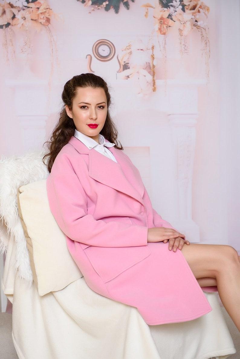 d0b87c91ce179 Pink coat/ Wool coat/ Cashmere coat/ Oversize Coats/ Elegant Winter Coat/  Jacket winter/ VIVASTELLA