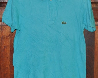16da875e2a6e8 Vintage 90s LACOSTE Shirt Pattern Casual TShirt Small Logo | Etsy