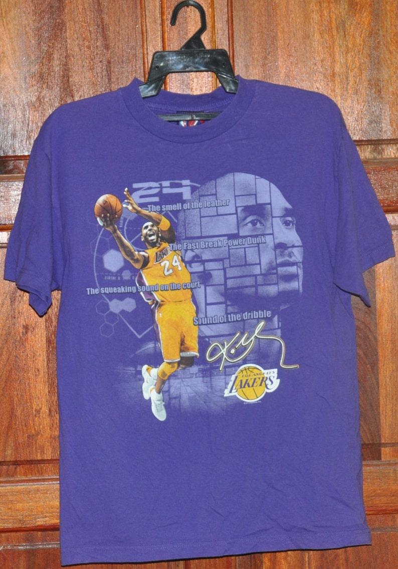 02a87c058 Vintage 90s LA Lakers Majestic T Shirt NBA Basketball Purple T