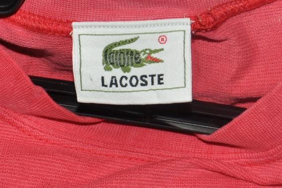 9b2e0fcefeabd Vintage 90's LACOSTE Shirt Pattern Casual TShirt Small Logo Short Sleeve  Red Saiz 3