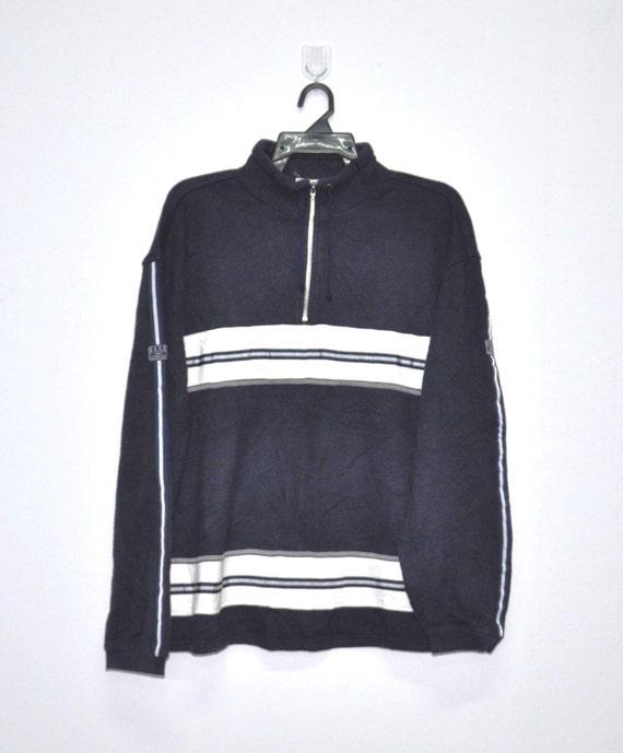 Rare !! Vintage ELLE Button Up Jacket vtg Designer Sweater Black Color Sweatshirt Pullover fashion Streetwear vtg ELLE PARIS Shirt 90s Dope