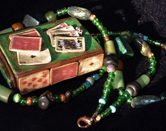 Cards & Checkers Matchbox Necklace