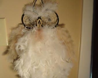 Whootie the snow owl dreamcatcher