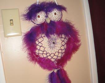 Amethyst Owl dreamcatcher