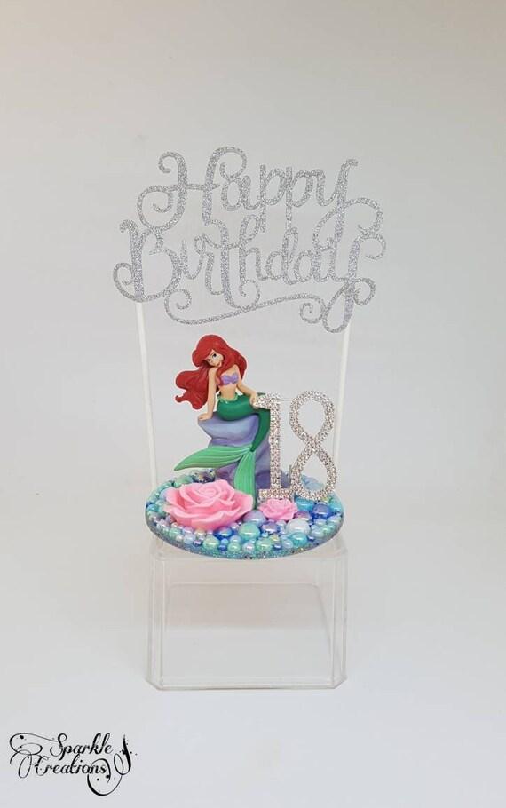 Personalisierte Disney Kleine Meerjungfrau Kuchen Deckel 18 Etsy