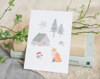 Postcard Forest Love, Nature, Floral Greeting Card