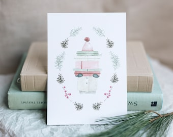 Postcard gifts for you, Advent, Christmas, greeting card with envelope