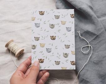 Postcard Kitten, Greeting Card Animals