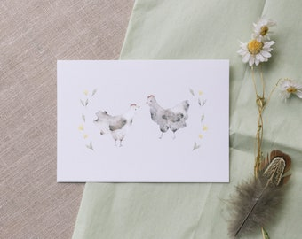 Postcard Chickens, Greeting Card Friends, Easter