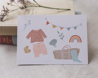 Postcard Baby Happiness, Greeting Card Baby and Toddler