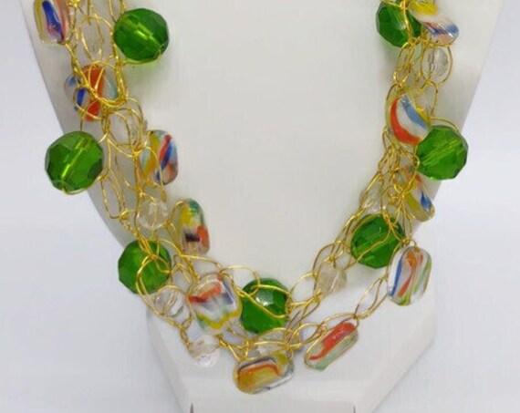 N-1561  Crochet Wire Necklace