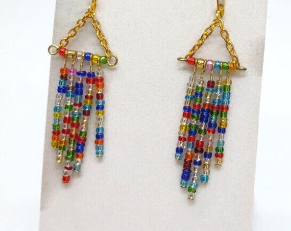 E-1674 Beaded Earrings