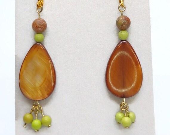 E-1672 Beaded Shell Earrings
