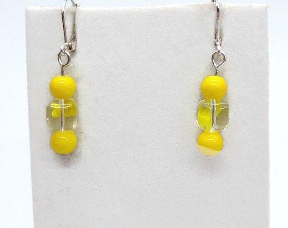 E-1673 Yellow Earrings