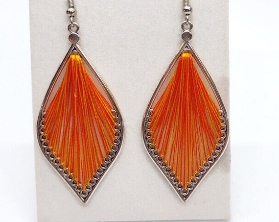 E-1685 Silk Leaf Earrings
