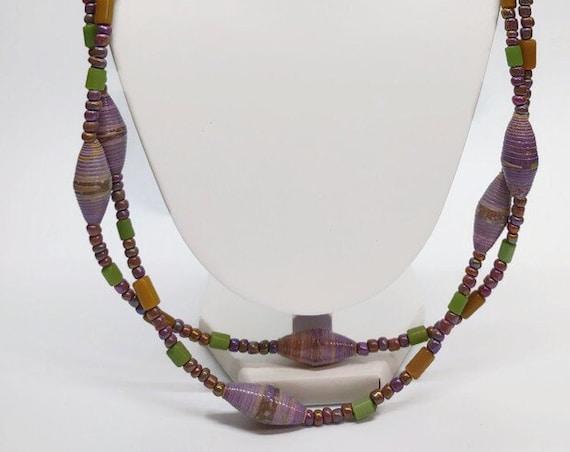 N-1507 Purple paper bead set