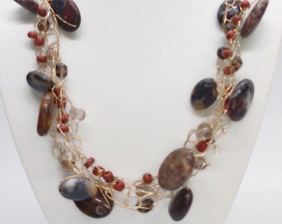 N-1609 Crochet Wire Necklace