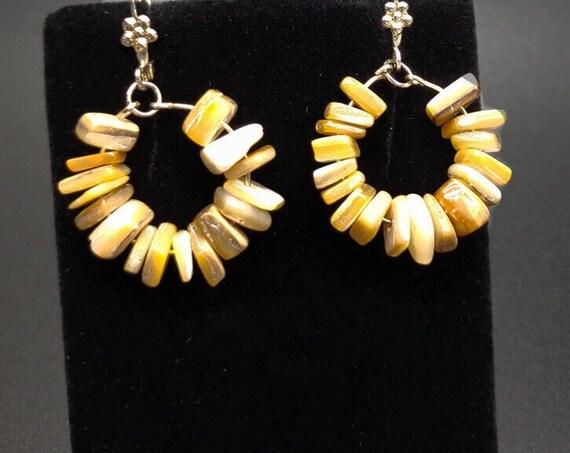 E-1696 Brown Shell Earrings