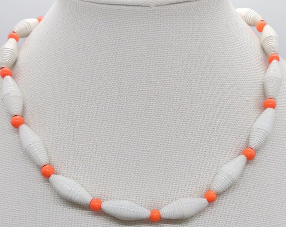 N-1658 Paper Bead Necklace