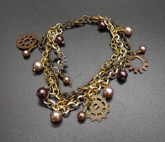 B-1643 Steampunk bracelet