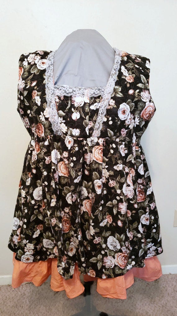 D-4103 Plus size black and orange lolita dress