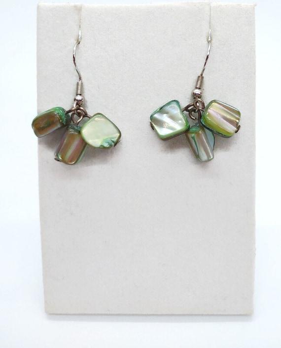 E-1697 Green Shell Earrings