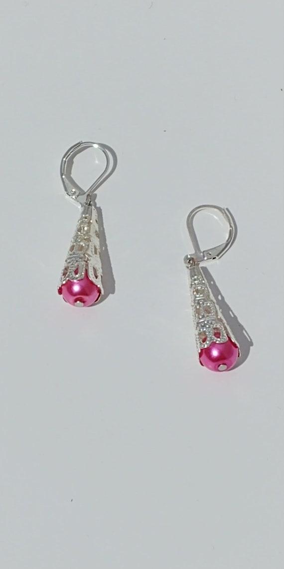 E-1680 Silver Dangle Earrings