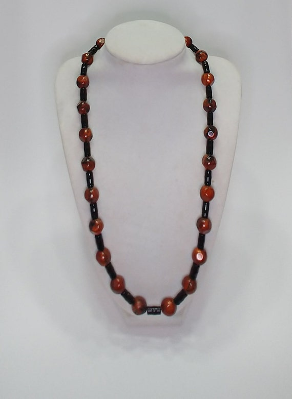 N-1655 Brown and Black Necklace