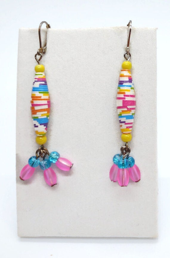 E-1687 Paper dangle earring