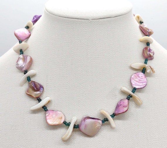 Handcrafted Shell and Glass Necklace
