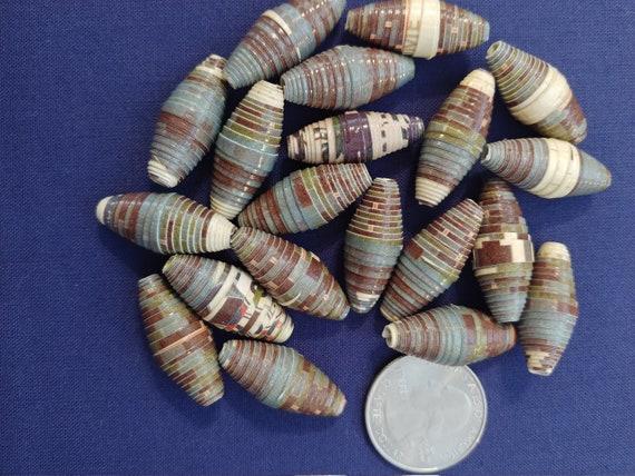 B-4012 Earth Tone Paper Beads