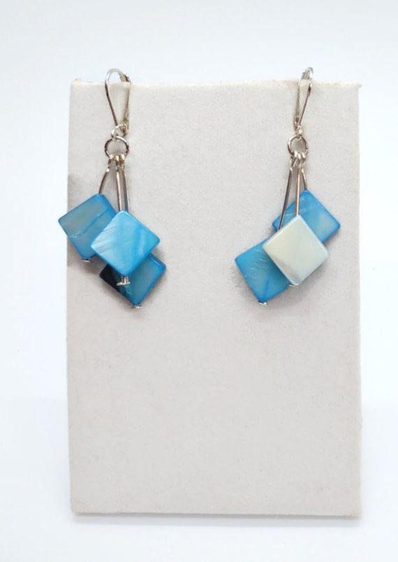 E-1699 Blue Shell Earrings