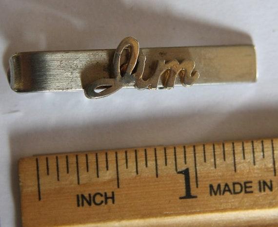 Vintage Tie Clip Warrior Reverse Painted Cameo Hickok Gold Tone Tie Clip