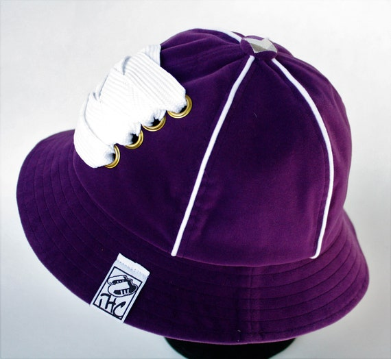 Purple   White Kangol Track Bucket customized with white fat  9fe8151cbcd