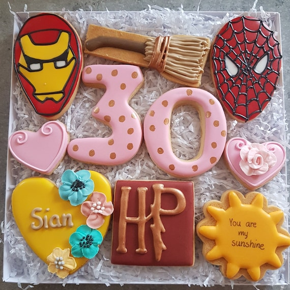 Custom Order Personalised Gift Box Cookies