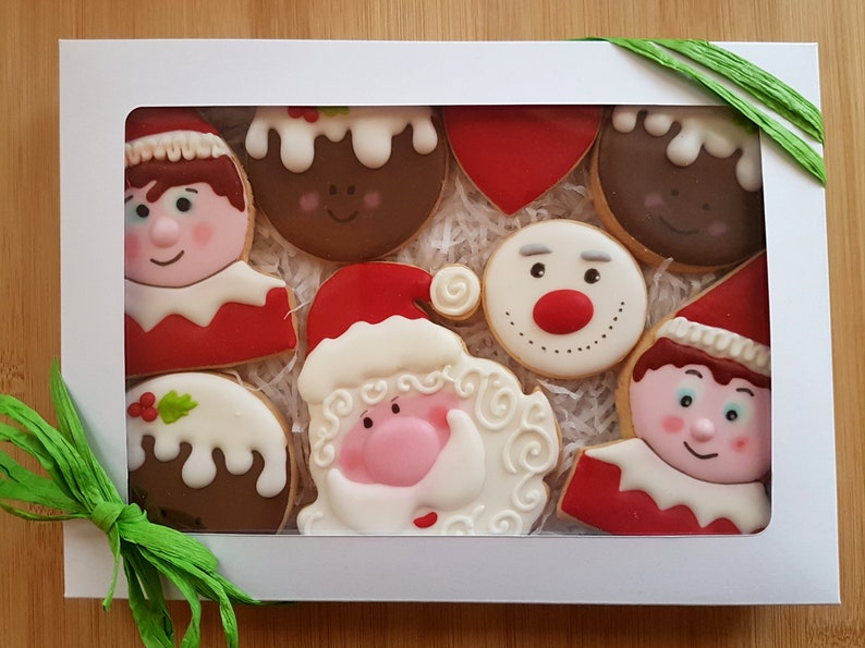 Christmas Gift Christmas Gift Box Christmas Biscuits Bespoke Christmas Gift Box Personalised Cookies Christmas Biscuits Homemade