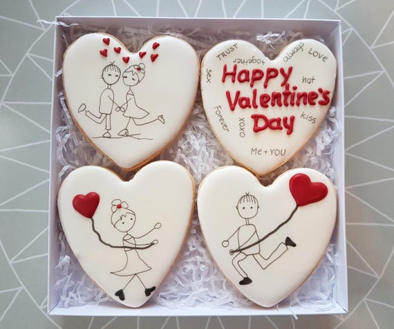 Valentine S Day Personalised Cookies Personalised Gift Etsy