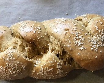 Recipe for our Einkorn Golden Challah