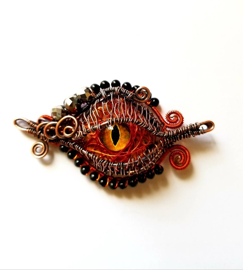 Dragon Eye Pendant Dragon Eye Amulet Necklace Dragon-eye image 0