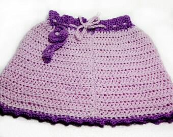 "Crochet Baby Skirt: ""PINK BABY SKIRT"" baby shower gift, infant skirt, baby photo prop A202"
