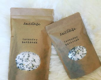 Bath Soaks Infused with Essential Oils and Herbs