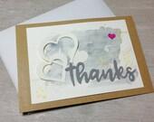 Grußkarte - thanks -  ha...