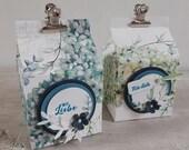 Kleine Geschenkschachtel/Mitbringseln in Milchbox-Design